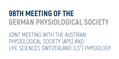98TH MEETING OF THE GERMAN PHYSIOLOGICAL SOCIETY